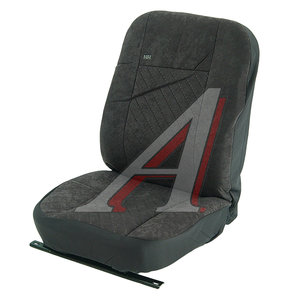 Авточехлы универсальные передних сидений для автобусов/грузовиков алькантара темно-серые H&R 10138 H&R