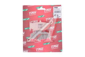 Колодки тормозные мото SUZUKI GSXR600,750,GSR600,GSX1300R Hayabusa (06-13) задние (2шт.) TRW MCB783SH