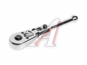 """Ключ трещотка 1/4"""" 45 зубьев 124мм шарнирныйс фиксацией укороченный металлическая рукоятка JTC JTC-3012"""