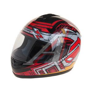 Шлем мото (интеграл) MICHIRU Cyber Red MI 120 L, 4650066000412