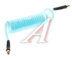 """Шланг компрессора 6.5х10мм 5м витой полиуретановый с резьбовыми наконечниками 1/4"""" AHC-48A, PN-AHC-48A"""