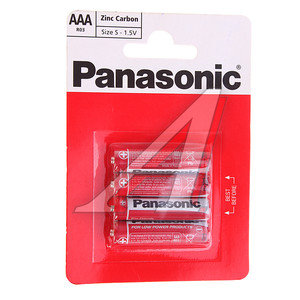 Батарейка AAA R03 1.5V (по 1шт.) Saline PANASONIC PAN-R03бл