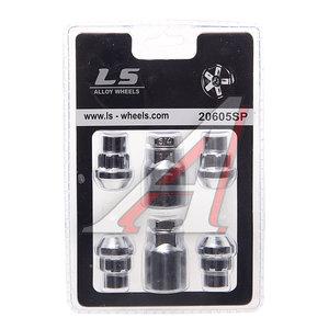 Гайка колеса М12х1.5х36 секретки прессшайба закрытая комплект 4шт. 2 головки 21мм TECHNOLOCK TECHNOLOCK 282, 282