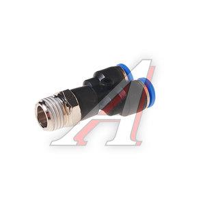 """Фитинг для пластиковых трубок 1/4"""" Y-образный 6мм с наружной резьбой ROCK FORCE RF-SPX06-02"""