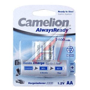 Батарейка AA HR6 1.2V аккумулятор Ni-MH 2100mAh AlwaysReady блистер 2шт. CAMELION C-210AAKCбл