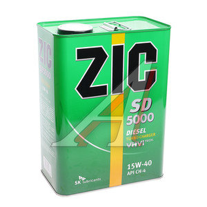 Масло дизельное SD 5000 GOLD мин.4л ZIC ZIC SAE15W40, 163126