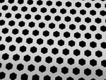 Сетки, Сетка алюминиевая (120x40см), серебристая с шестиугольной перфорацией...